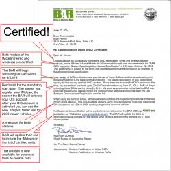Certification letter for the IMclean from the BAR