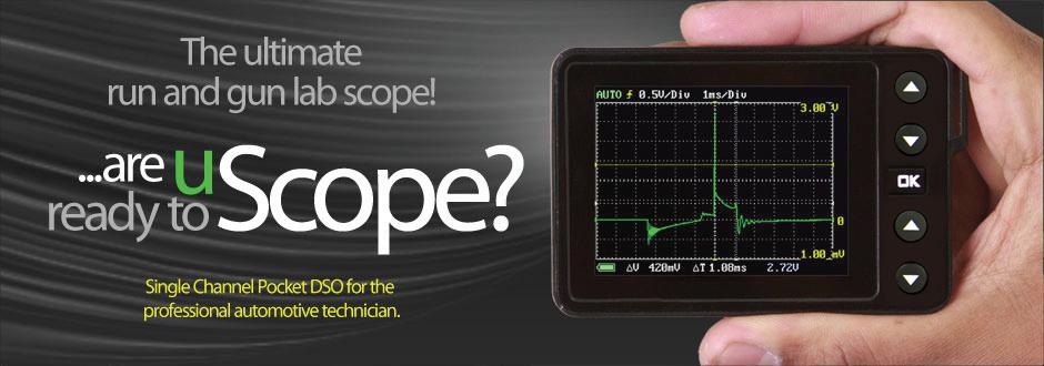 uScope 1 channel automotive Master Kit