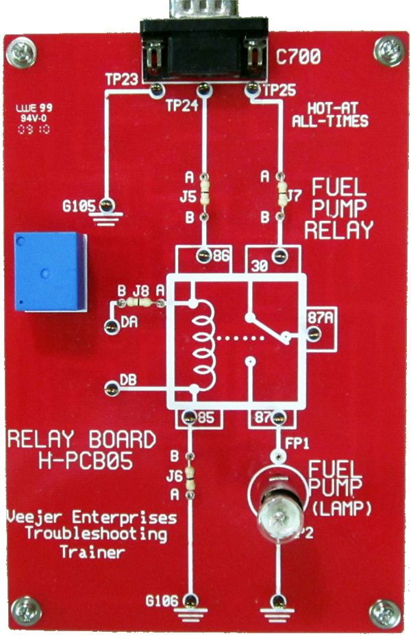 Veejer Relay Circuit Troubleshooting Trainer