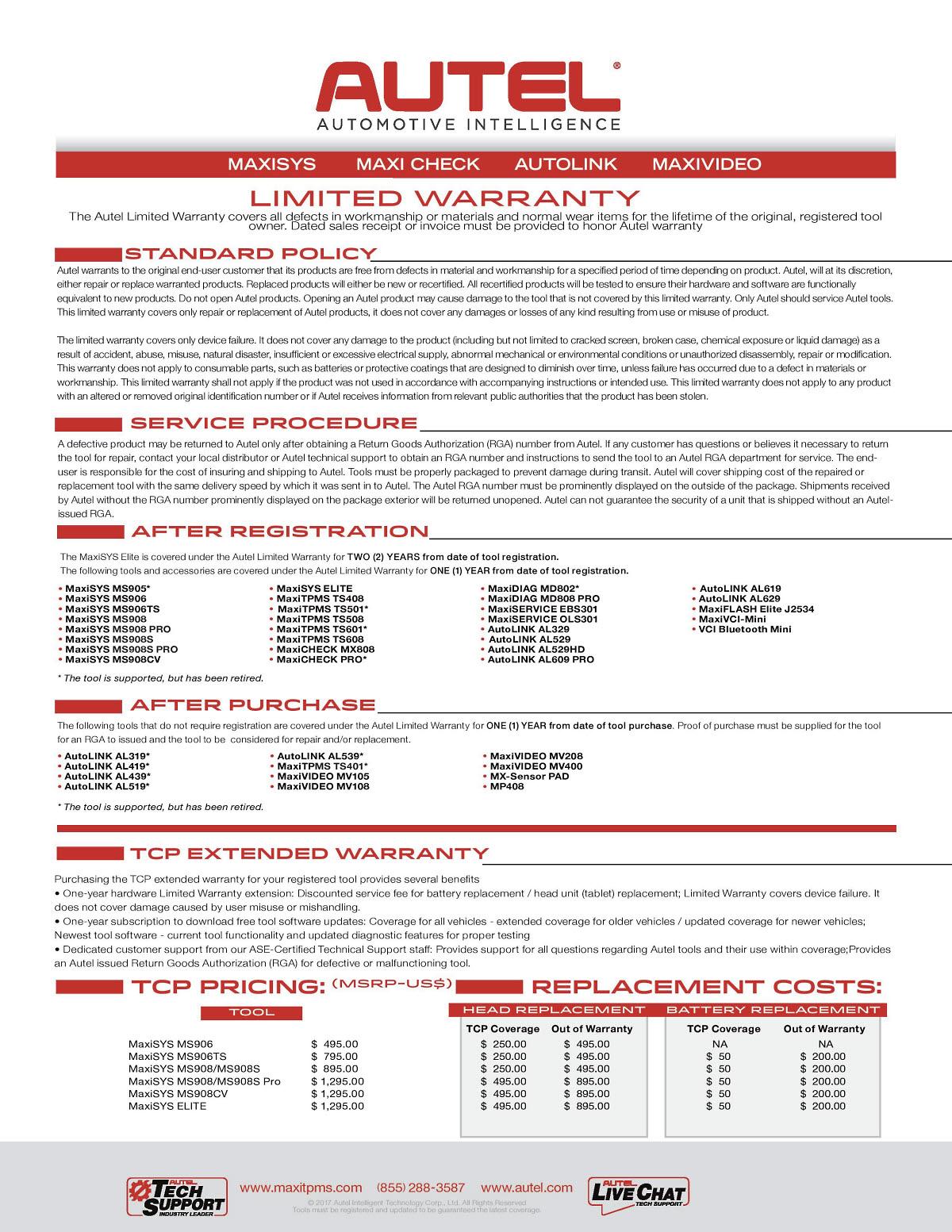 Autel MaxiDAS ms908 Elite update Total Care Package