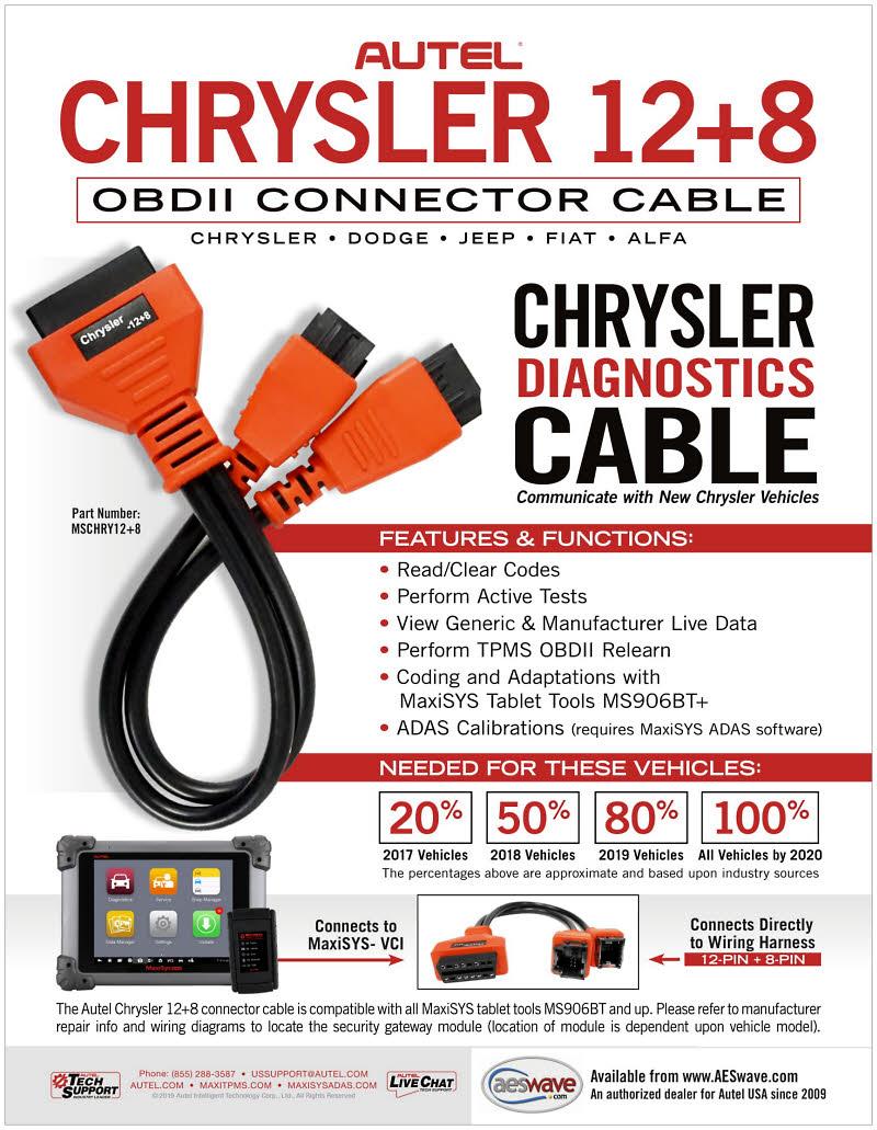 12+8 Autel Adapter for Chrysler Secure Gateway Module