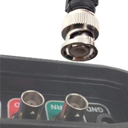The Interro scopes use a metal BNC